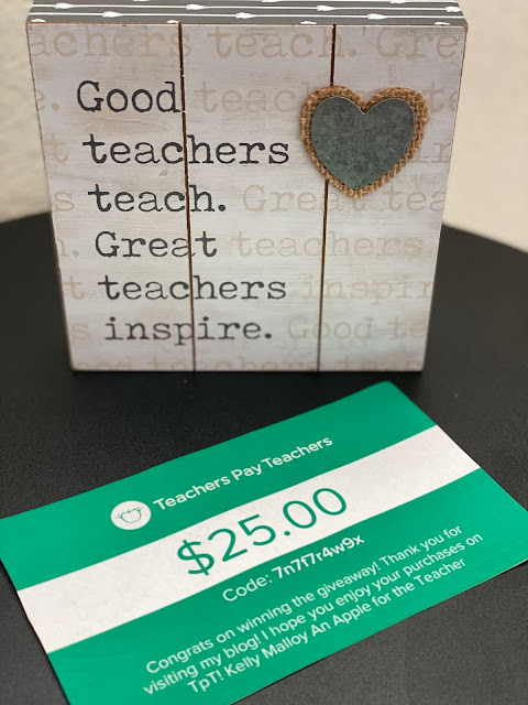 Weekly $25 Teachers pay Teachers Gift Card Giveaway September 20, 2021