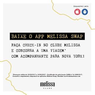 Promoção Embarque com o #ClubeMelissa pra Nova York!
