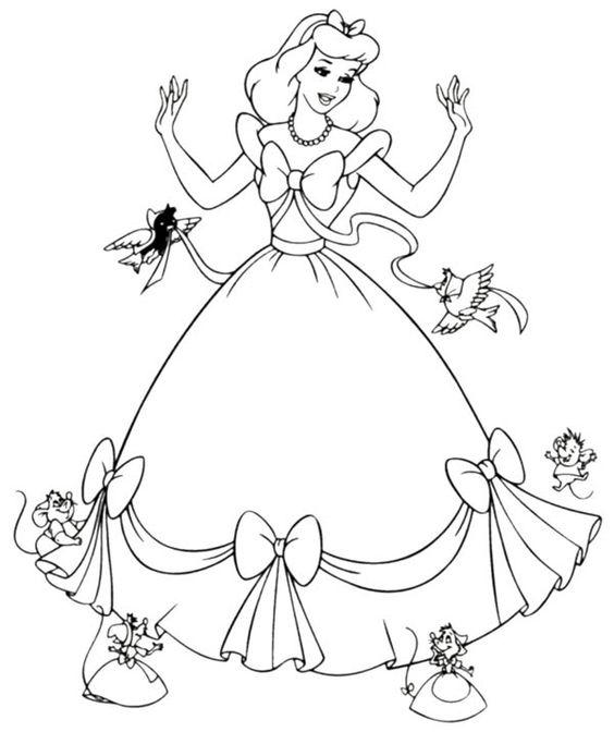 Hình tô màu công chúa lọ lem