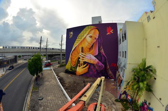 Street Art By Chilean Artist INTI For Los Muros Hablan '13 In San Juan, Puerto Rico. 4