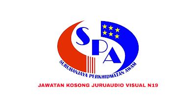Permohonan Jawatan Kosong Juruaudio Visual N19 2019