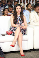 Kyra Dutta in a Deep neck Small Dress at Shamanthakamani pre release function ~  Exclusive 073.JPG