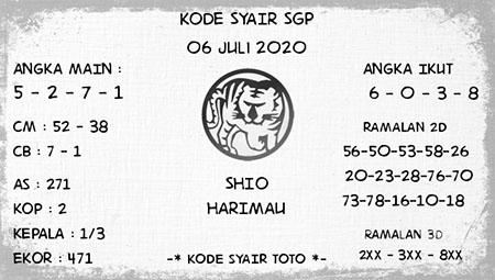 Kode Syair SGP Senin