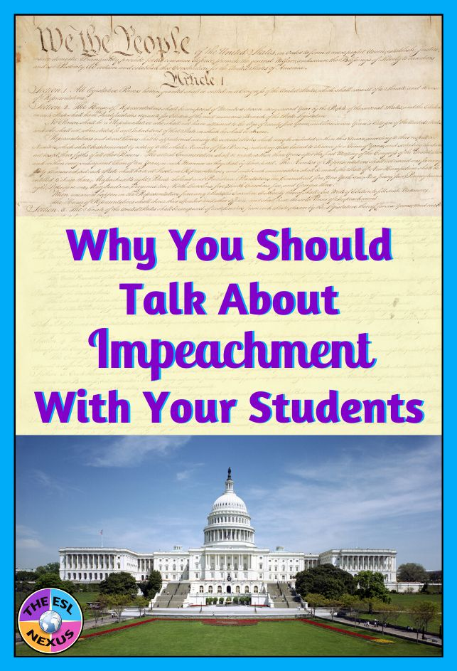 Why you should talk to your students about impeachment | The ESL Nexus