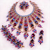 Crystal stone necklace designs