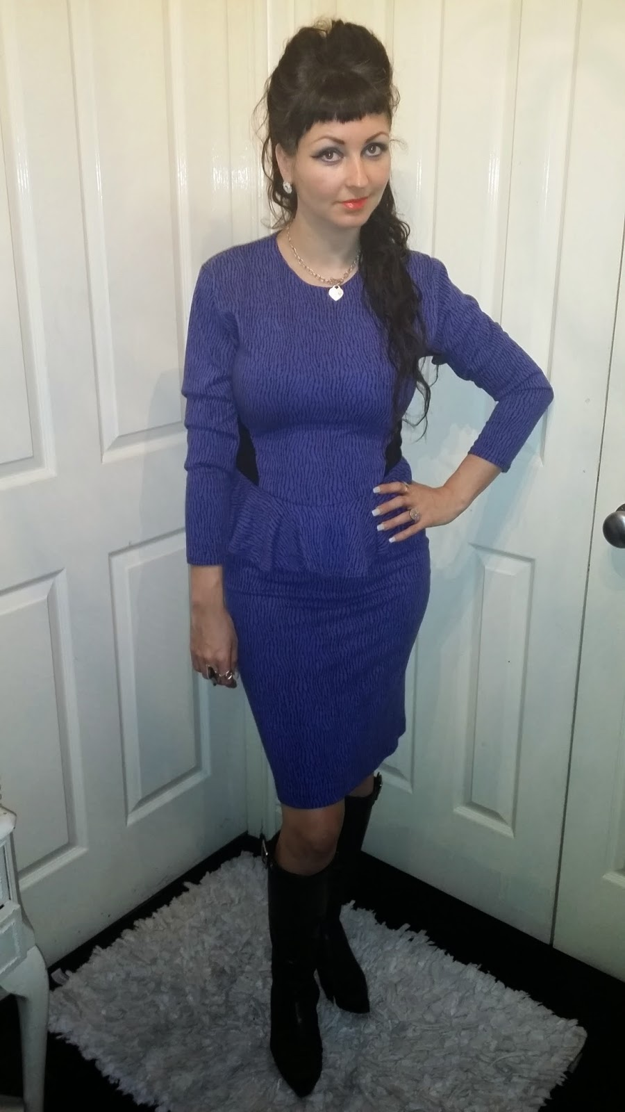 30577081271 This little vintage dress was a great buy from cow vintage in Manchester I  teamed it with Prada boot s and my silver Tiffany necklace and diamanté  studs for ...