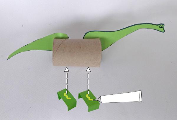 brontosaurus, dinosaurs, crafts, toilet paper roll, kids, dinosaur crafts