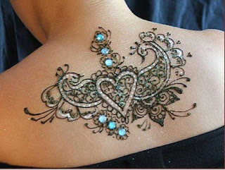 Neck & Back Mehndi Designs for girls