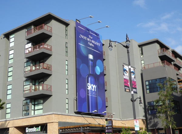 not silent nights Skyy Vodka billboard