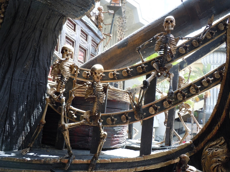 Pirate ship skeletons