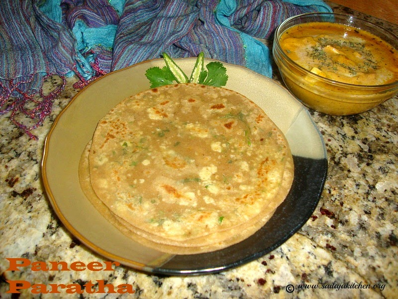 images for Paneer Paratha Recipe / Stuffed Paneer Paratha / Paneer Parata Recipe / Cottage Cheese Stuffed Paratha Recipe