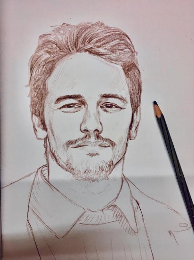James Franco - A Quick Pencil Portrait