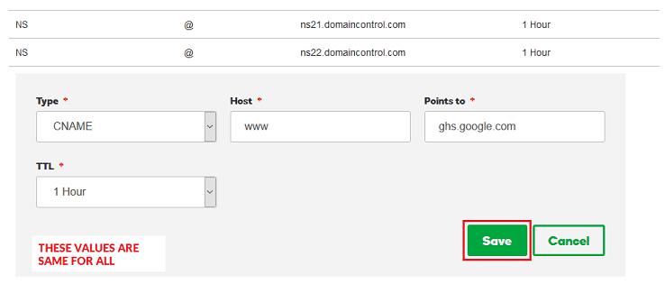 blogger custom domain not working