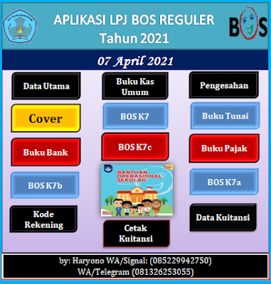 Aplikasi LPJ BOS Revisi Tahun 2021