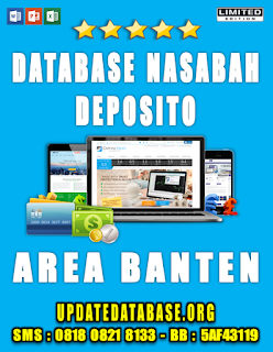 Jual Database Nasabah Deposito Banten