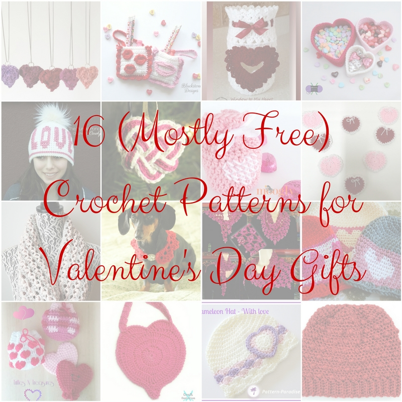 Cgoa Now 16 Mostly Free Crochet Patterns For Valetines Day Gifts