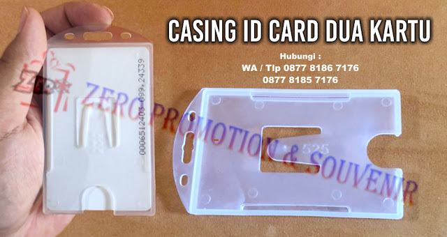Holder ID Card 2 Kartu, Tempat Kartu ID Card Holder 2 Side, Card Holder 2 in 1