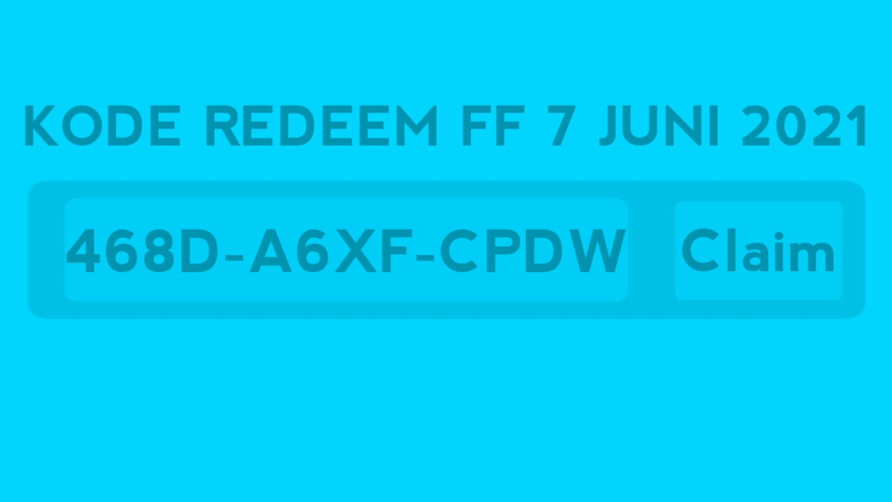 Latest FF redemption code June 7, 2021 Today (still active)