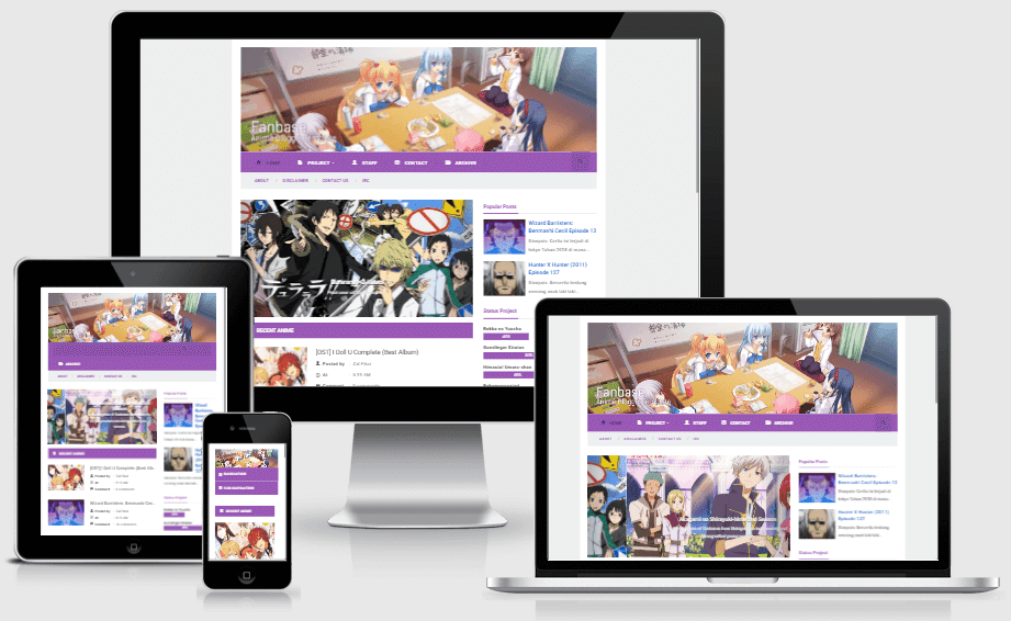 Fan Base v2.2 - Responsive Anime Blogger Template