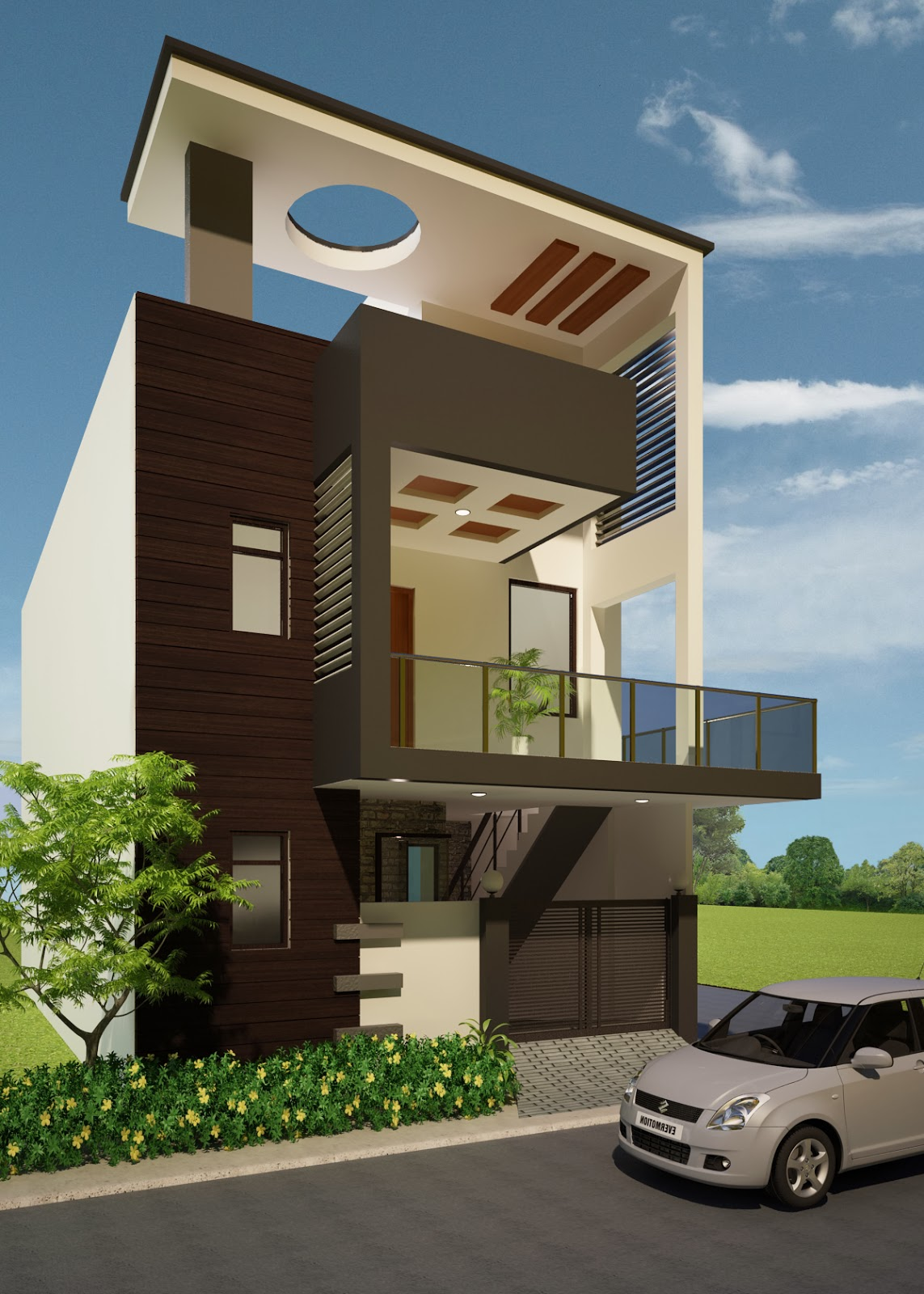 Home Design Ideas Elevation: 3D Visualization : Some New Elevations