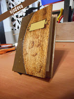 carta de menu de madera