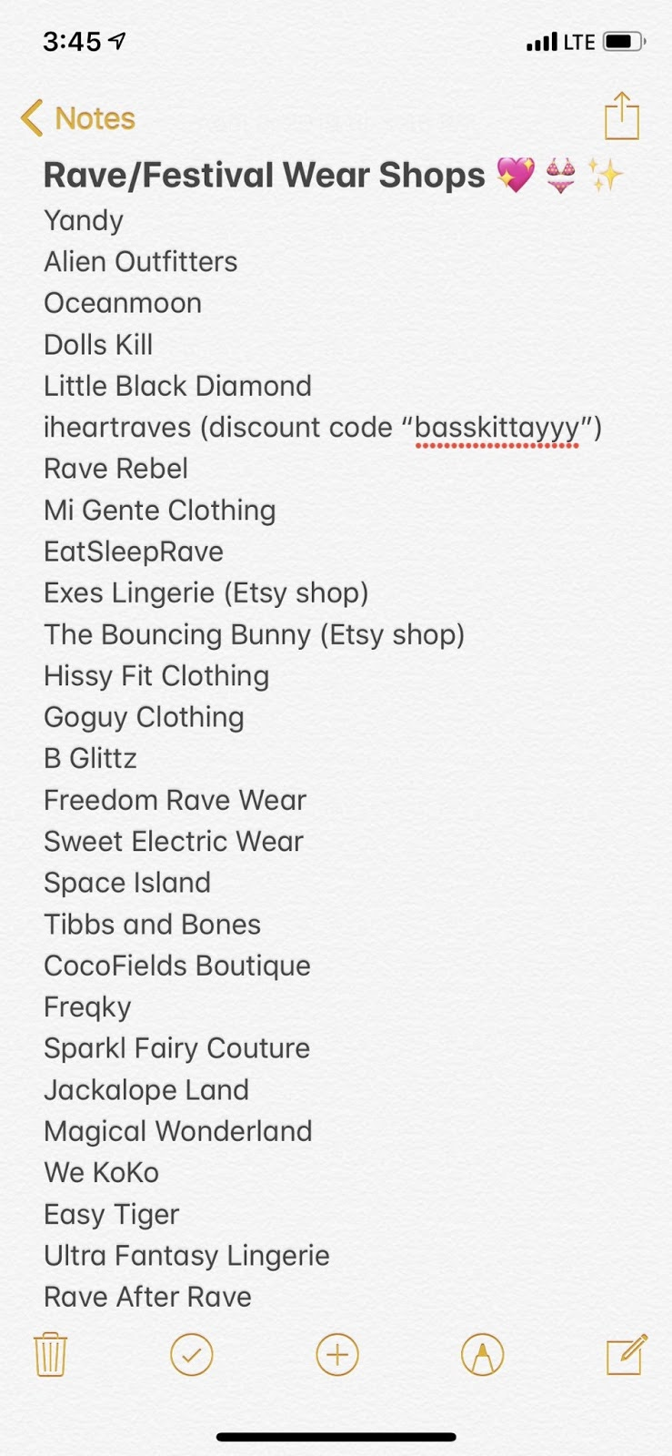 A list of rave and festival wear shops