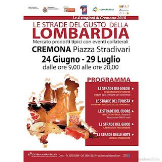 Strade del gusto della Lombardia cremona giugno luglio