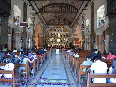 Inside the Basilica Del Santo Nino