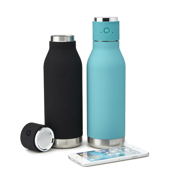 hybrid waterbottle with bluetooth speaker