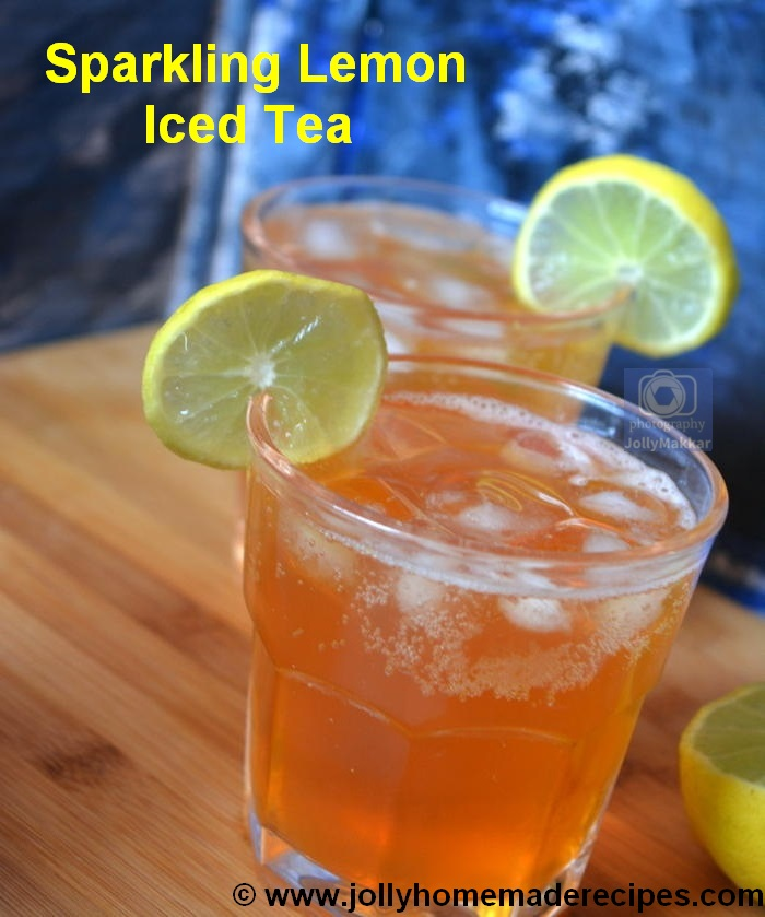 Sparkling Lemon Iced Tea