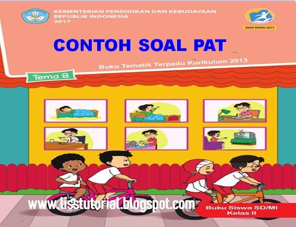 Contoh Soal UKK/PAT Tema 8 Semester 2 Kelas 2 SD/MI Kurikulum 2013