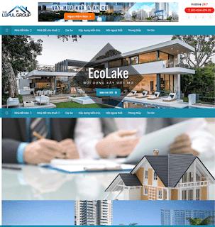 Giao diện Web Bất động sản Dự án, Nhà, Đất - Theme Blogspot Bất động sản - Blogspotdep.com