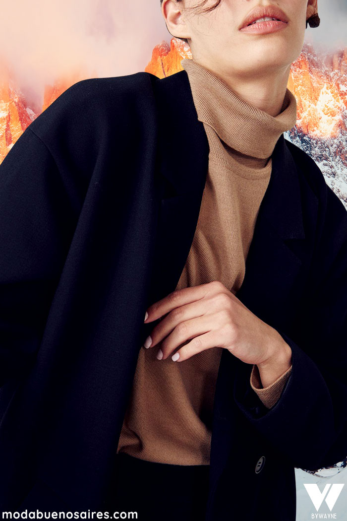 polara con tapado invierno 2021 moda mujer