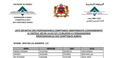 Liste des comptables agréé en 2018 au Maroc