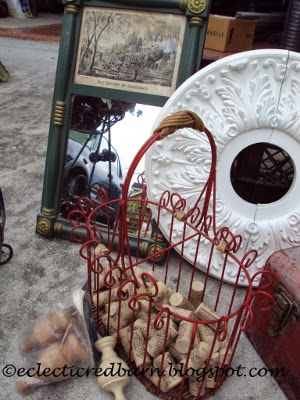 Eclectic Red Barn: Garage sale finds incuding a mirror