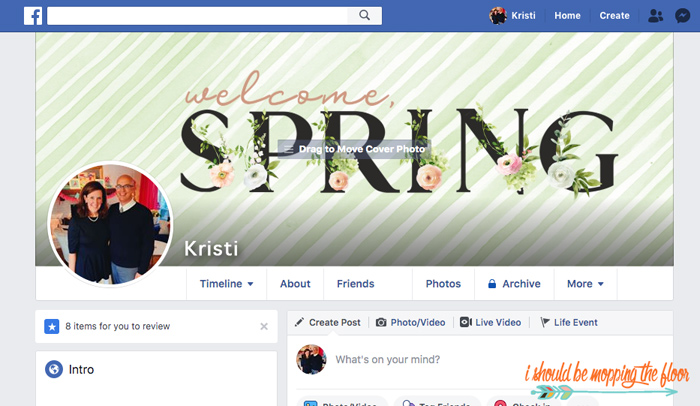 Changing My Facebook Cover
