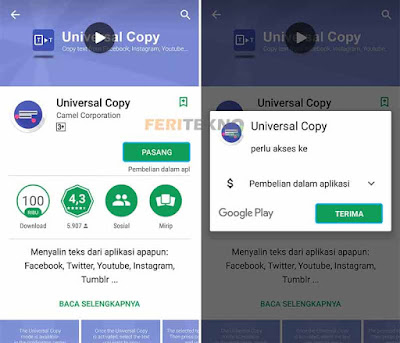 cara copy paste tulisan di instagram