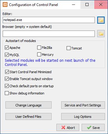 Configuracion de XAMPP
