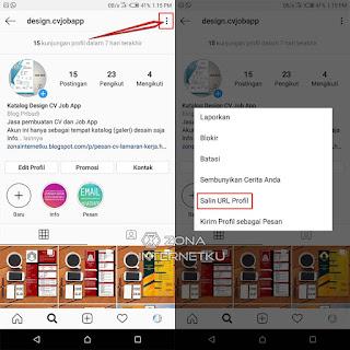 Cara Copy Link Profil/Akun Instagram Sendiri Dan Orang Lain