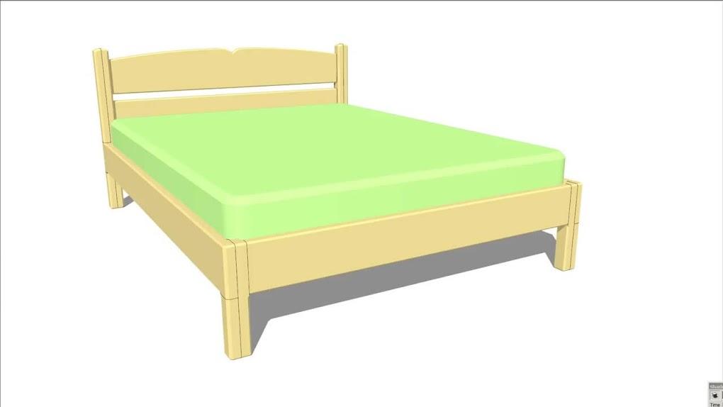 Diy como hacer una cama de dos plazas de madera pino f cil for Cama de una plaza precio