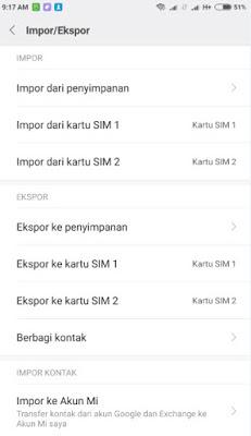 Cara Menyalin dan Memindahkan data kontak di Smartphone