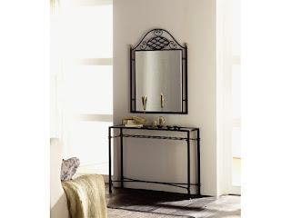 mueble de forja para el recibidor