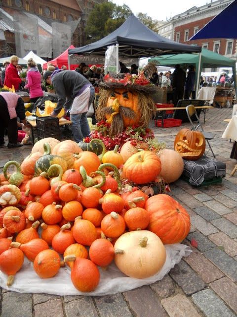 Weekend in Riga in the Fall: Autumn Harvest Festival pumpkins