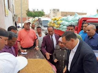 محافظ_الشرقية يتفقد صوامع ههيا للإطمئنان على أعمال توريد القمح