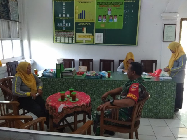 Kodim Sragen - Babinsa Sragen Kulon Himbau, Anak – Anak TK Jangan Jajan Sembarangan