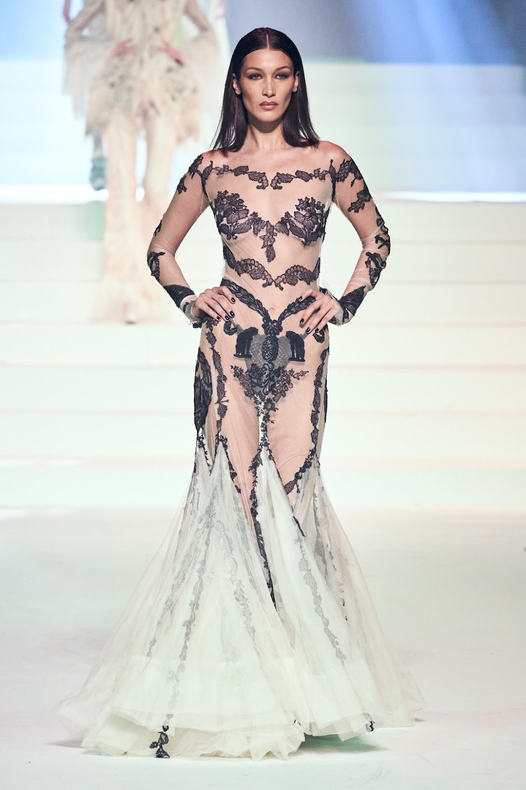Bella Hadid for Jean Paul Gaultier Haute Couture SS20