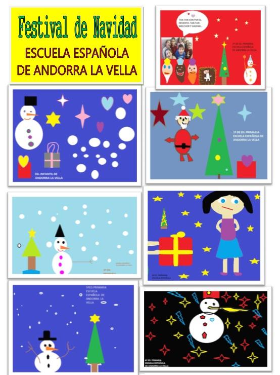 Programa Postales De Navidad.Cosas De La Escuela Espanola En Andorra La Vella Nuestras