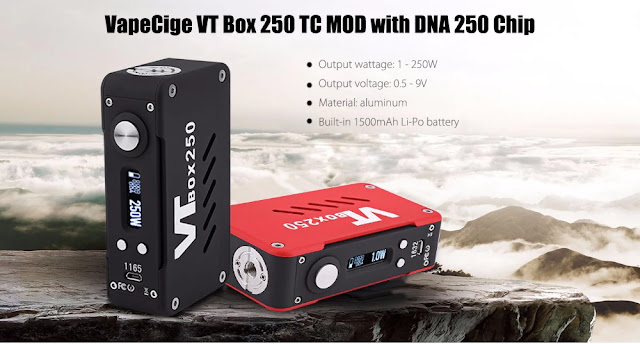 Coupon VapeCige VT Box 250 TC MOD with DNA 250 Chip