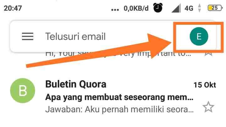 Cara buat email dan password