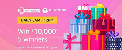 Image result for Quiz Answers to Win Rs.10000 Amazon Pay Cash